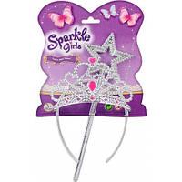 Волшебная палочка и диадема, набор украшений, Sparkle girlz