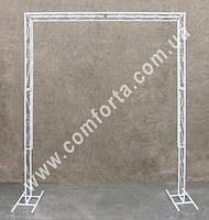 33871 Арка свадебная прямоугольная с бортиком разборная, высота ~ 2,1 м, ширина ~ 1,75 м, каркас металлический