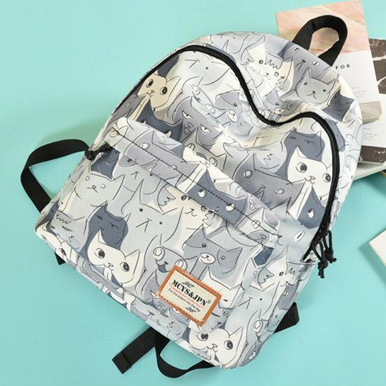 56a947bdc6c0 Прогулочный рюкзак с принтом Котов - Интернет-магазин Mak-Shop в Днепре