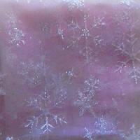 Евросетка (фатин) Снежинки №404 бледная роза