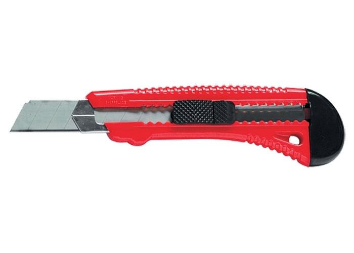 Нож строительный 18мм ширина лезвия металл.направл.  MTX