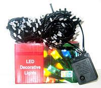 """Світлодіодна гірлянда """"рис"""" (200 LED,чорна нитка)"""