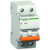 Автоматический выключатель 16А 4,5кА 2 полюса тип C  Домовой ВА63 Schneider Electric