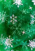 Еврофатин Снежинки №452 зеленый