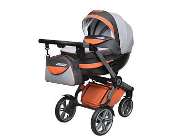 Дитяча універсальна коляска 2 в 1 «SIRIUS NANO» Сірий з помаранчевим