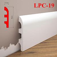 Плинтус под покраску из дюрополимера LPC-19 Cezar, 2,0м