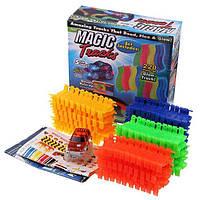 Детская игрушечная дорога автотрек MAGIC TRACKS 220 деталей с машинкой