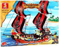 Конструктор Sluban Пиратский корабль M38-B0129, 632 дет.