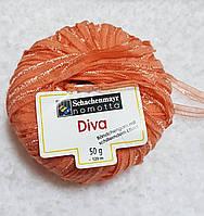 Ленточная пряжа шерсть полиамид оранжевого
