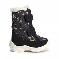 Детские зимние сапоги OLDCOM ALASKA черные со снежинками