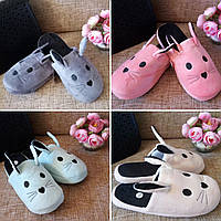 Тапочки Зайка 4 цвета,Безумно удобные и красивые женские тапочки, тапочки для девочки,обувь для дома мятный, текстиль, мягкая, 38-39