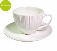 Чашка с блюдцем 12х12х6.5см/0.1л фарфоровая Fissman