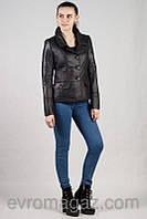 Женская короткая куртка на пуговицах (44-48)