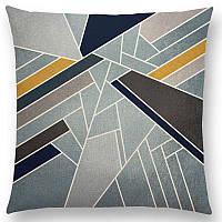 Декоративная наволочка на подушку с геометрической комбинацией