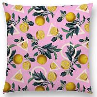 Декоративная подушка с фруктовым тропическим принтом