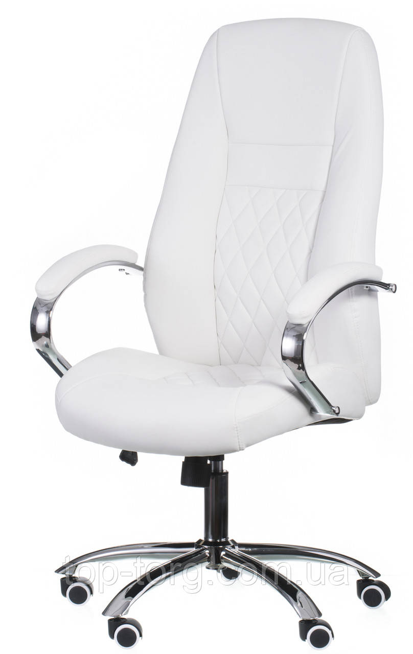 Крісло офісне Alizе whitе, біле
