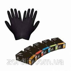 Перчатки нитрил чорные Mercator L 100шт