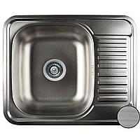 Мойка кухонная Platinum 5848M декор 0,8 мм глубина 18 см