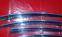 Ветровики с хром молдингом Hyundai Sonata YF 2010+
