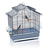 Клетка Imac Pagoda Export для попугаев, синяя, 50х30х53 см