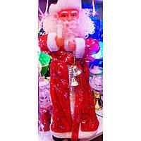 Новогодний Дед Мороз Музыкальная Игрушка под Елку 37 см