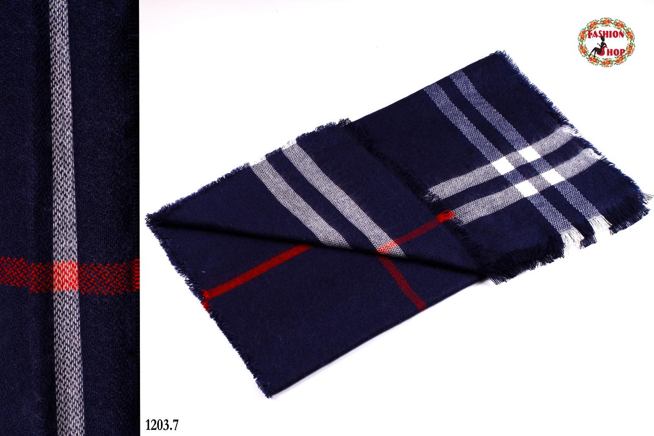 Стильный шерстяной шарф-плед
