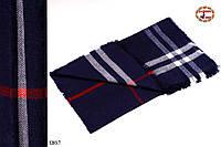 Мужской стильный шерстяной шарф-плед