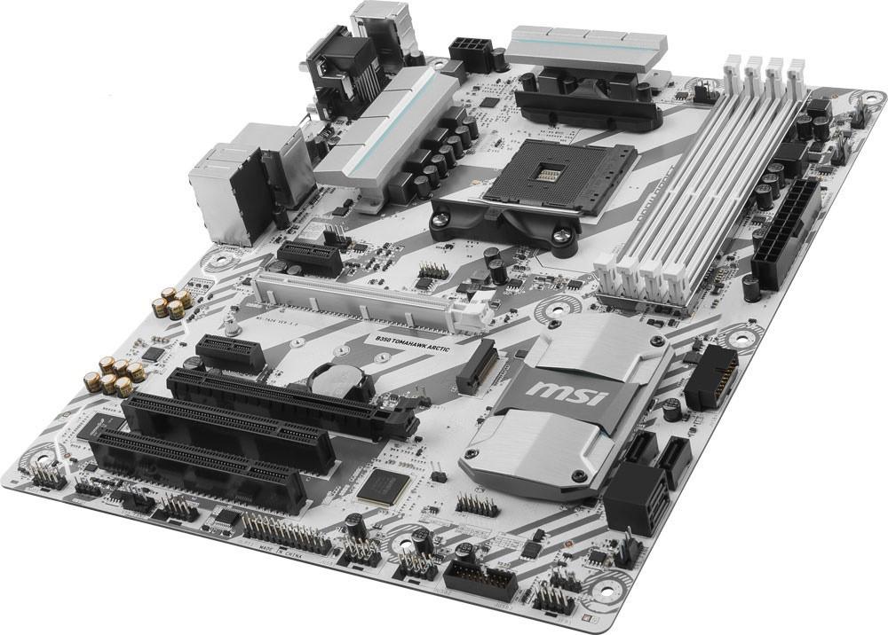 """Материнская плата MSI B350 Tomahawk Arctic AM4 AMD B350 DDR4 """"Over-Stock"""""""