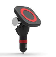 Беспроводная зарядка авто выравнивание магнитом телефона для автомобиля в прикуриватель /QI
