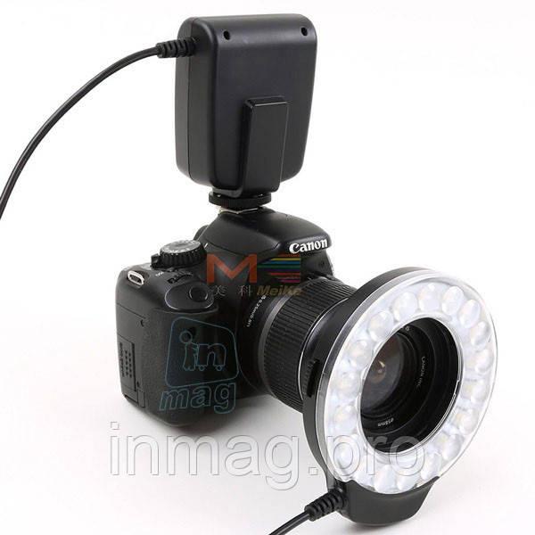 Кольцевая макровспышка и LED осветитель MeiKe FC110 для Canon, Nikon,