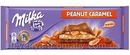 Молочный шоколад Milka Peanut Caramel 276g (Швейцария)
