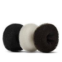 Резинка мочалка для волос №2 9.5см бежевая