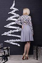 Женское платье светло-серое с бабочками, фото 3