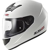 Шлем LS2 FF352 Rookie SINGLE MONO, GLOSS WHITE, L