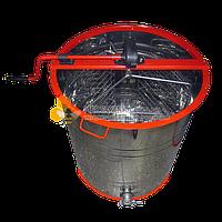 Медогонка ручная 3-рамочная поворотная, бак нержавейка, кассета нержавейка сварная, ротор нержавейка