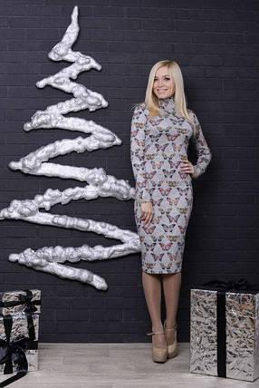 Платье-футляр трикотажное, фото 2