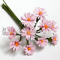 Букет ромашек ткань 1 см, розовые