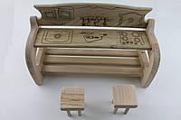 Детская деревянная КУХНЯ с массива бука, арт. 370160200