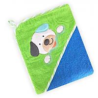 Полотенце с капюшоном Baby Mix CY-26 Blue Песик