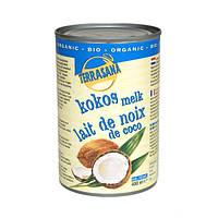 Органическое молоко кокосовое (жирность 22%) (вода, кокос), Terrasana, 400 гр