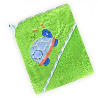 Полотенце с капюшоном Baby Mix CY-25 Green Черепаха