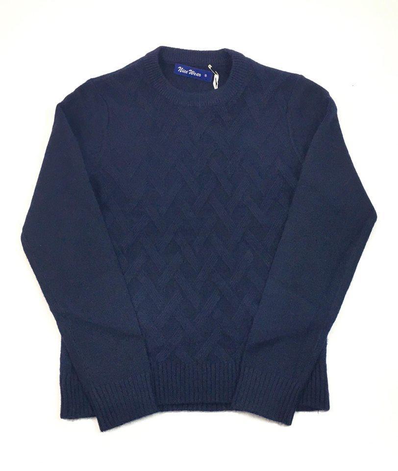 Вязаный школьный джемпер для мальчика Nice Wear 888, синий (8/9 лет)