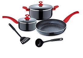 Набор кухонной посуды 7 пр RENBERG RB-1255-RD
