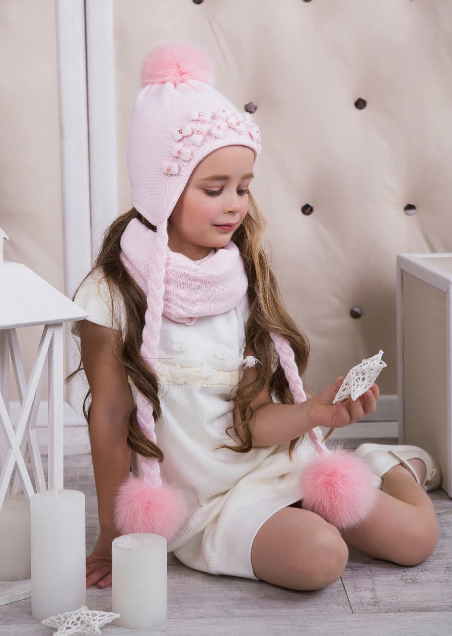 Стильный комплект для девочки (шапка/снуд) Nikola