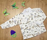 Кофточка ясельная MirAks TN-4893-02 White (Белый/кулир)