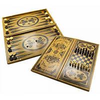 Нарды+шахматы+шашки бамбук (40*20 см) (Fine)