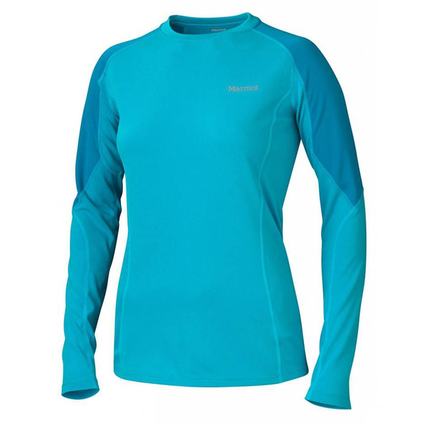 Термокофта Marmot Wm's ThermalClime Pro LS Crew sea breeze/aqua blue L, фото 2