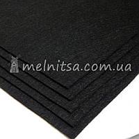 Фетр жесткий лист 30х20 см, 2 мм, черный (Китай)