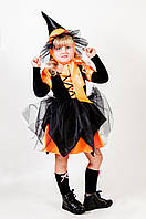 Карнавальный костюм Ведьма оранжевая, фото 1