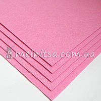 Фетр жесткий лист 25х25 см, 2 мм, св.розовый (Китай)